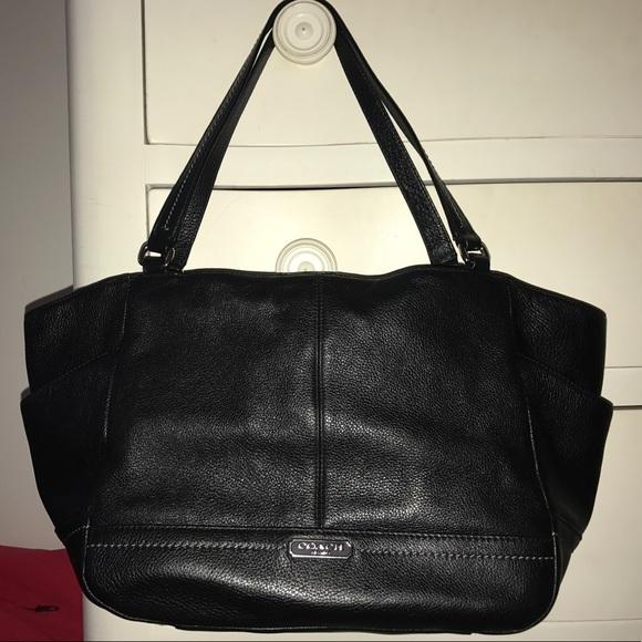 Coach Handbags - Coach Park Carrie Genuine Leather Tote Black 22bad57a21859